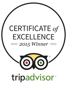 Certificate of Excellence 2015 Winner TripAdvisor